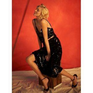 Anthropology Minuit Sequin Skirt